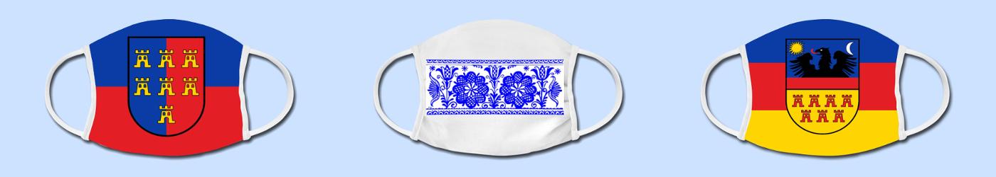 Bunte Gesichtsmasken für Siebenbürge-Fan's